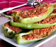 Paleo Stuffed Hot Peppers. These make a fun dinner. You don't even need a fork and a knife, just chomp down on the them like a slice of pizza. Be sure to save some for breakfast.
