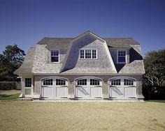 beautiful barn / garage. cedar shingles, beach house look. Edgartown, Massachusetts   Ferguson & Shamamian