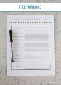 Free printable Spring cleaning check list on iheartnaptime.com #organization #cleaning #tips