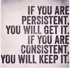 persistency + consistency