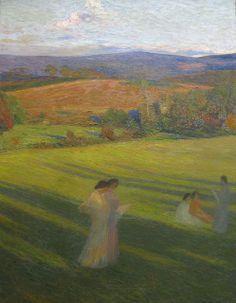 Henri Martin (1860-1943)  Muses dans un Paysage , 1897