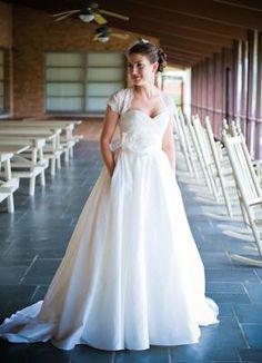 Yeah for pockets!  Watters 25828 - Used Wedding Dress | SmartBrideBoutique.com
