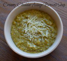 Creamy Cheddar Asiago Broccoli Soup crockpot recipe