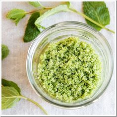 mint sugar recipe...picturing it sprinkled on fresh cut strawberries and mixed in fruit salads.