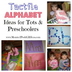 Great tactile alphabet ideas for toddlers, preschoolers & beyond. Turn letter recognition into a memorable sensory experience.