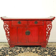 cabinets, asian inspir, red lacquer, asian decor, sideboard cabinet