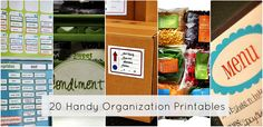 Get Organized — 20 Handy Printables to Organize YOUR Life! - #printables