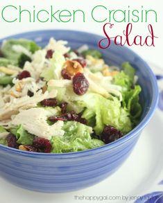 Chicken Craisin Salad #salads #chickensalad #thehappygal #healthyeating