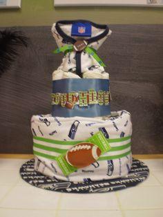 Seahawks Diaper Cake