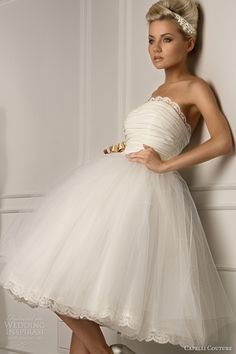 capelli couture bridal 2013 juliana strapless ball gown short wedding dress pleated bodice