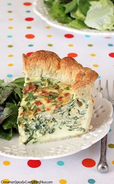Spinach Bacon Puff Pastry Quiche