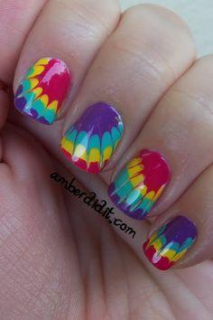 Tie Dye Nails ~ Manicure Tutorial   BlogHer