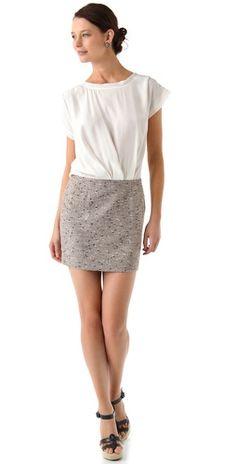 Rebecca Taylor Metallic Tweed Dress | SHOPBOP