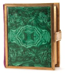 A RUSSIAN MALACHITE PHOTO ALBUM
