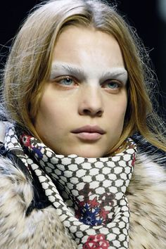 The incredible arctic snow white bold tribal warrior brow - Fall 2007.