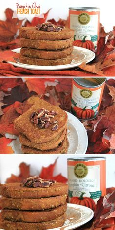 Pumpkin Chai French Toast - The perfect fall breakfast to get in your pumpkin fix! // thehealthymaven.com #glutenfree #vegan #recipe