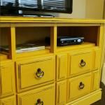 Refurbished Dresser turned into TV Console with Tutorial
