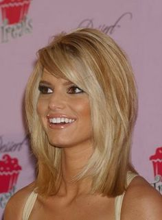 LONG Layered Bob - Haircut.... Creamy Blonde Highlights On Golden Blonde Hair- Hair Color .... Best On- Medium To Course Not Too Wavy Hair