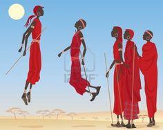 Massai traditional dance called Adumu.