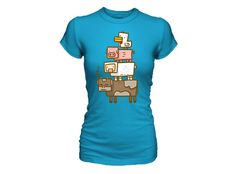 J!NX : Minecraft Animal Totem Women's Tee - Clothing Inspired by Video Games & Geek Culture