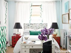 Mann O Print Curtains - Decorating for Small Rooms - House Beautiful