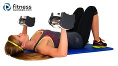 Kelli's Abs and Upper Body Strength Training Workout - 27 Minute Chest, Back, Arms and Abs Superset Workout with Warm Up & Cool Down Stretches  // Info: Burn 162-304 Calories / Equipment: Dumbbells / Muscles Used: Biceps, Triceps, Shoulders, Chest, Upper Back