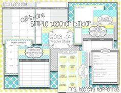 classroom, school, teacher idea, organ, teacher binder, binder set, allinon simpl, teachers, simpl teacher
