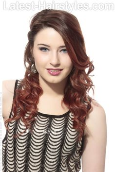 Soft Chocolate and Wine Ombre Haircolor