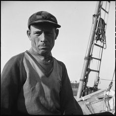 On board the fishing boat Alden out of Gloucester, Massachusetts. Antonio Tiano, Italian fisherman. June, 1943. Library of Congress.