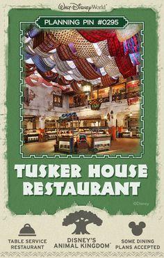Walt Disney World Planning Pins: Tusker House Restaurant