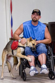 "Think that a PTSD service dog isn't a ""real"" service dog? There are many tasks that PTSD service dogs perform. Some of them can be trained to do ""front block"" and ""rear block"" to make their humans feel safer in a public space, anxiety contact, house clearing, ""pull me up"" (from the floor or chair) and retrieving (phones, etc)."