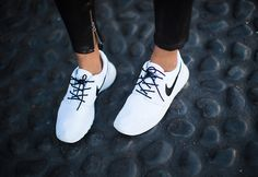 White and Black Nike Shoes