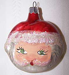 DOUBLE SIDED SANTA HEAD ORNAMENT