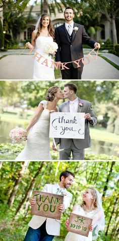 Would like to get a thank you sign for our post wedding thank you cards