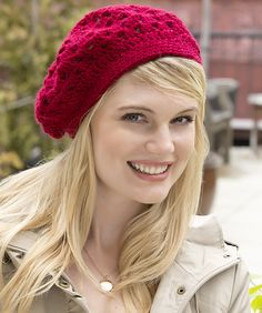 Ravelry: Bridgette Beret pattern by Red Heart Design Team
