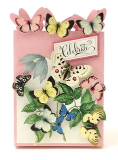 The Anna Griffin Antique Botanical Die Cuts collection contains 96 images that allow you to create a beautiful three-dimensional look that will become the star of your projects. Inside you'll find butterflies, birds and a stunning garden of hand colored florals.