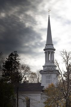 CHURCH STEEPLE as Storm Approaches