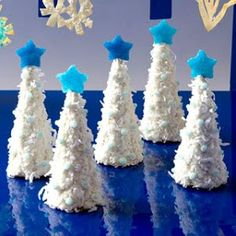 holiday, white christmas trees, white tree, kids christmas crafts, coconuts
