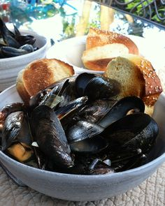 My Happy Dish: Spicy Coconut Mussels with Lemon Grass from Jan Greco of Beets