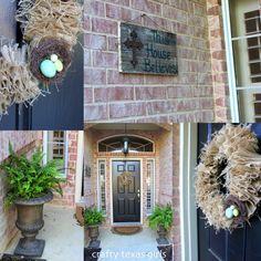Spring Wreath and Front Door