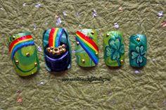 Pot O Gold St. Patrick's Day Nails by Nvr2MuchGlitter - Nail Art Gallery nailartgallery.nailsmag.com by Nails Magazine www.nailsmag.com #nailart