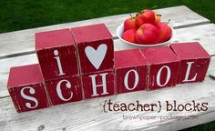 teacher blocks...appreciation gift