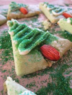 Gluten Free Christmas Trees, perfect for a holiday cookie exchange