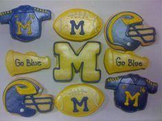 University of Michigan football cookies from Benny's Bakery, Saline, MI.  Yes, we ship cookies!  #UltimateTailgate #Fanatics