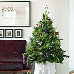 "28 festive winter arrangements   Foraged ""tree""   Sunset.com"
