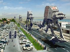 AT-AT Racing Postcard Need one of these to get to WDW fast!