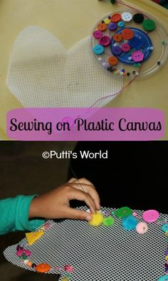 Sewing on Plastic Canvas