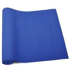 "GOGO. Premium 1/4"" (6mm) Blue Yoga Mat, High Density Yoga Mat, Yoga Accessories"