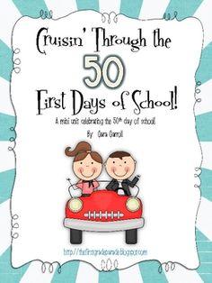 50th day of school ideas.  Great ideas.