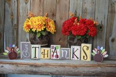 Give Thanks Block Letters